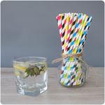 jednorazowe słomki papierowe do napojów