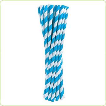 rurki papierowe niebieskie paski