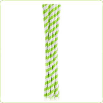 ekologiczne rurki papierowe w zielone paski