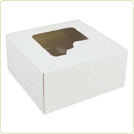 Pudełko na ciasto z okienkiem 28x28x13cm (50 sztuk) (1)
