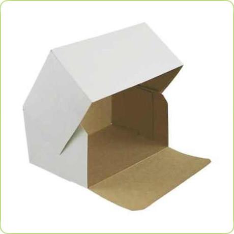 Klejone pudełko na ciasto z otwieranym bokiem 16x11x8cm