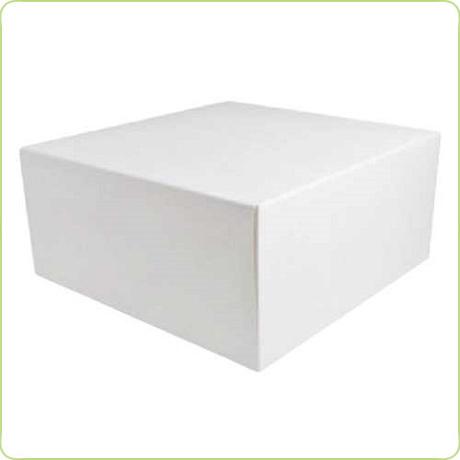 Biały karton na tort 25x25x12cm