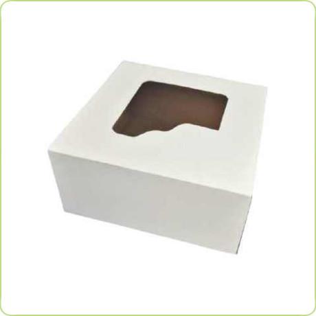 Pudełko na ciasto z okienkiem 18x18x9cm Pure Planet