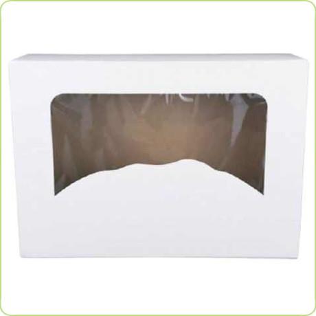 Duże prostokątne pudełko z okienkiem na ciasto 31x22x8cm Pure Planet