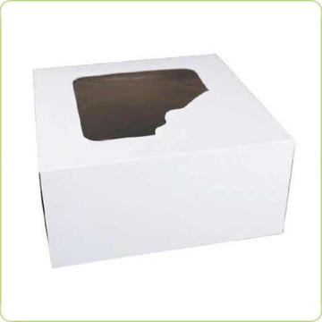 Pudełko 25x25x12cm z okienkiem na torcikaPure Planetna ciasto
