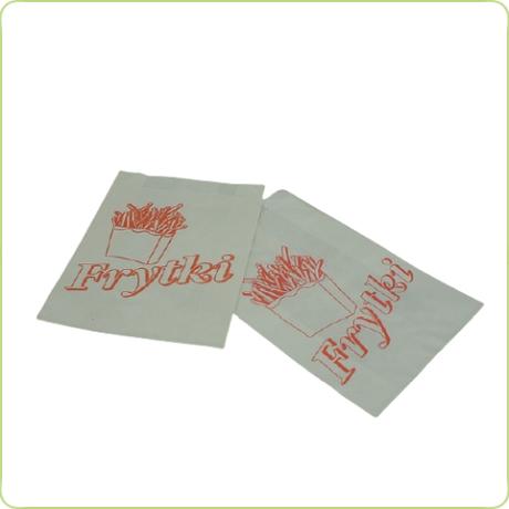 Torebka fałdowa na frytki 200g - nadruk Frytki
