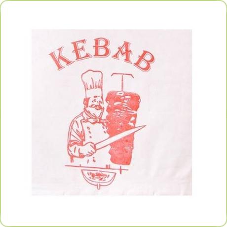 Koperta z nadrukiem do kebaba
