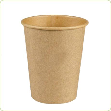 Papierowe kubki w brązowym kolorze 300ml